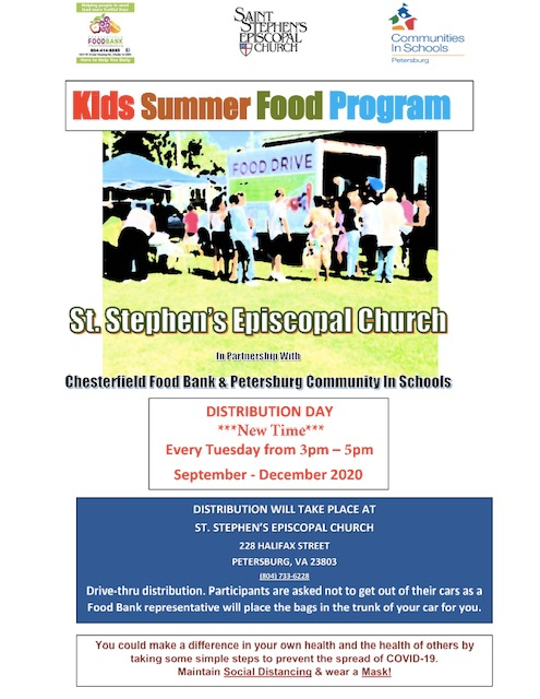 Kids summer food program until December 2020