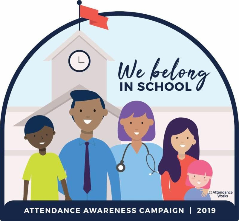 "Attendance Matters Image of Students and Families ""We Belong in School"""