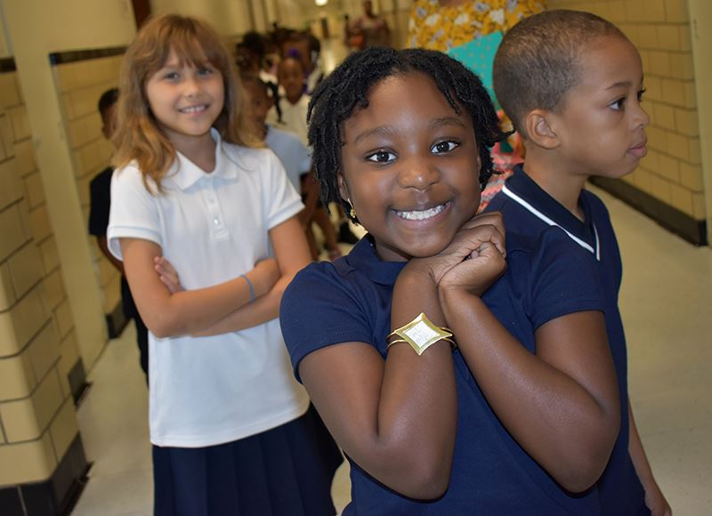 Walnut Hill Elementary student smiling