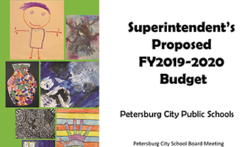 proposed budget cover featuring student art