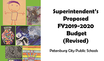 cover of budget featuring student artworks
