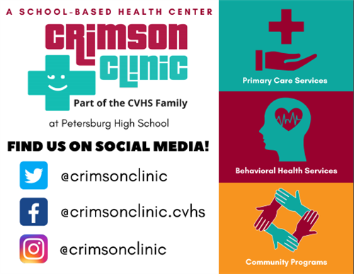CRIMSON CLINIC SOCIAL MEDIA  PAGES