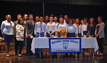 students who were inducted into the National Honor Society